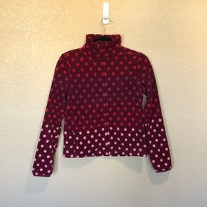 Uniqlo Printed Fleece Full-Zip Polka Dot Jacket